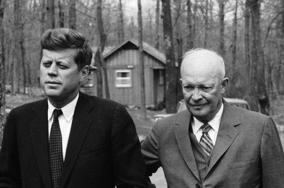 jfk-1961-ike-camp-david